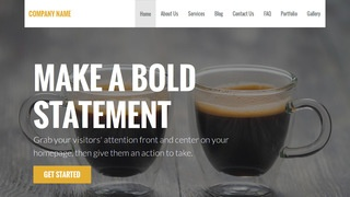 Stout Coffee or Tea Shop WordPress Theme
