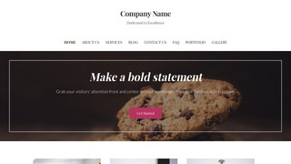Uptown Style Cookie Shop WordPress Theme