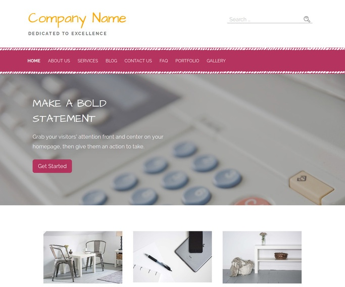 Scribbles Copy Shop WordPress Theme