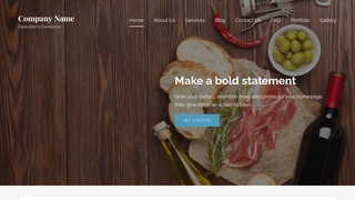 Lyrical Deli Restaurant WordPress Theme