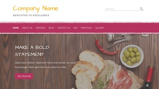 Scribbles Deli Restaurant WordPress Theme