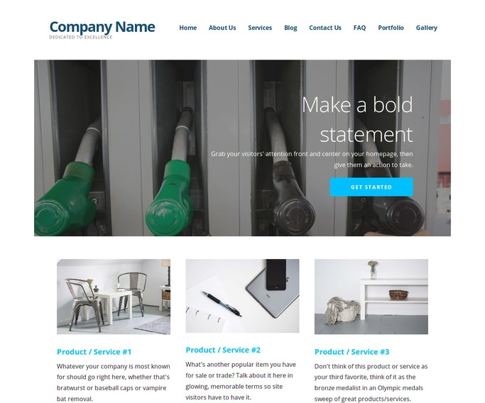 Ascension Diesel Fuel Supplier WordPress Theme