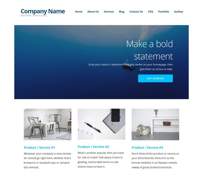 Ascension Scuba and Free Diving WordPress Theme