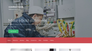Activation Electrical Engineer WordPress Theme