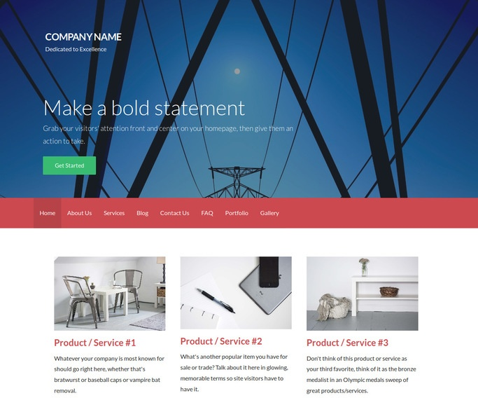 Activation Electric Company WordPress Theme