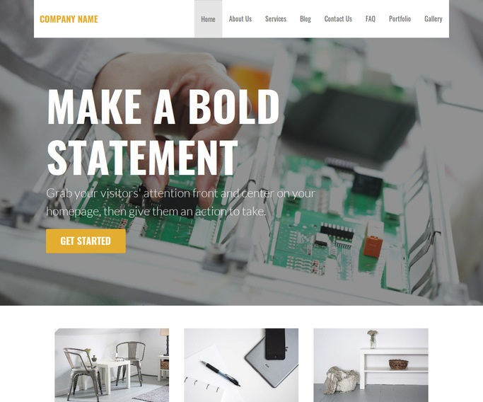 Stout Electronics Service and Repair WordPress Theme