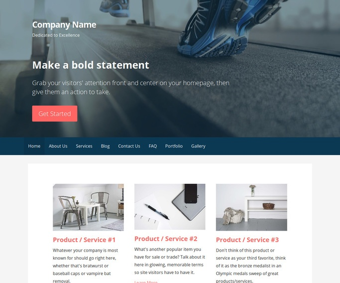 Primer Exercise Equipment Store WordPress Theme