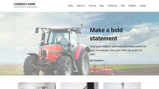 Mins Farm Equipment and Supplies WordPress Theme