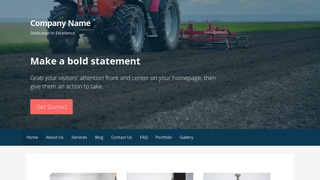 Primer Farm Equipment and Supplies WordPress Theme