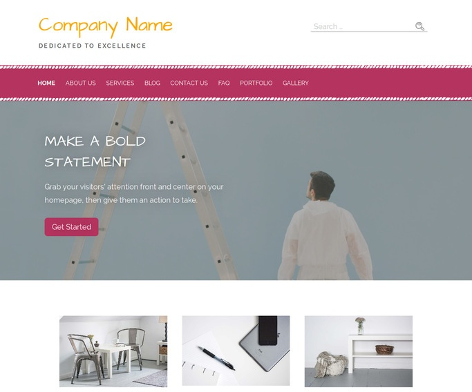 Scribbles Faux Painting Services WordPress Theme