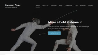 Lyrical Fencing WordPress Theme