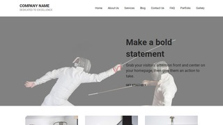 Mins Fencing WordPress Theme