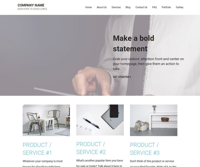 Mins Financial Consultant WordPress Theme