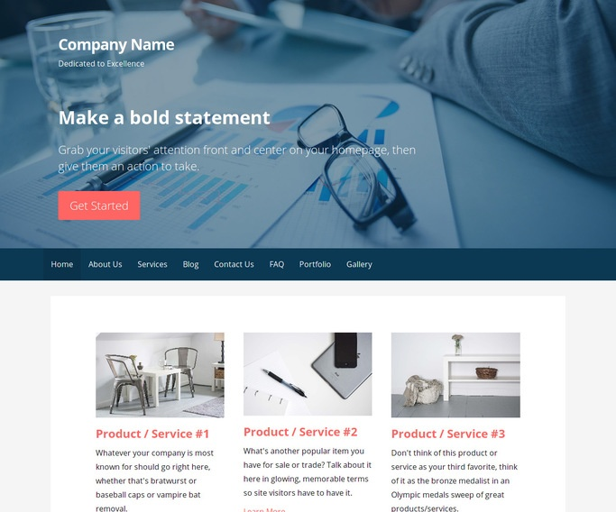 Primer Financial and Investment Planning WordPress Theme