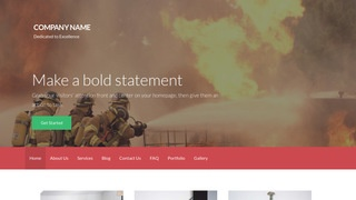 Activation Fire Protection Equipment WordPress Theme