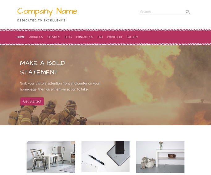 Scribbles Fire Protection Equipment WordPress Theme