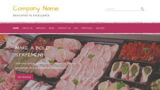 Scribbles Fish and Meat Market WordPress Theme