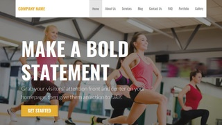 Stout Fitness WordPress Theme