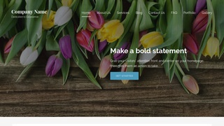 Lyrical Flowers WordPress Theme
