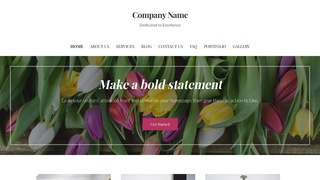 Uptown Style Flowers WordPress Theme
