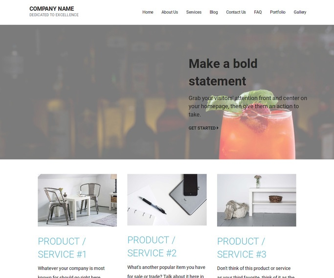 Mins Food and Drink WordPress Theme