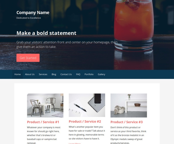 Primer Food and Drink WordPress Theme