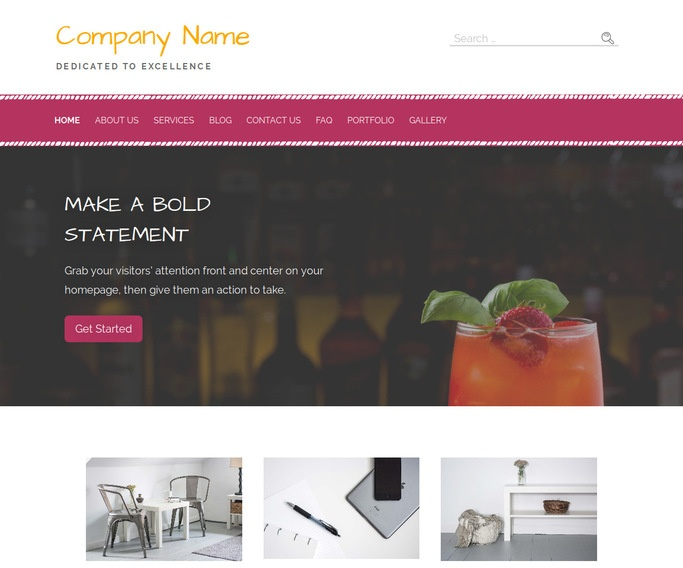 Scribbles Food and Drink WordPress Theme