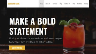 Stout Food and Drink WordPress Theme