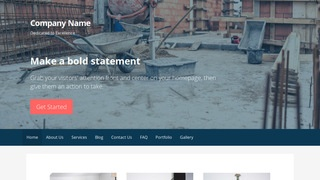 Primer Building Foundation Contractor WordPress Theme
