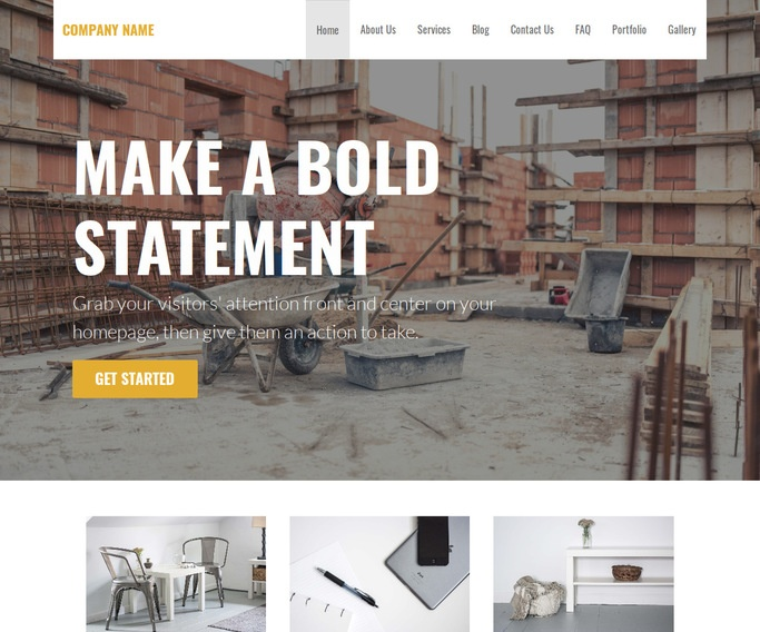 Stout Building Foundation Contractor WordPress Theme