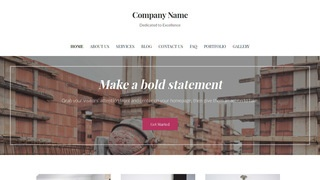 Uptown Style Building Foundation Contractor WordPress Theme