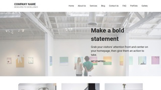 Mins Art Gallery WordPress Theme