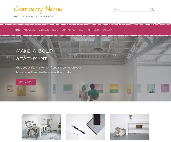 Scribbles Art Gallery WordPress Theme