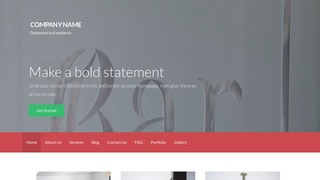 Activation Glass Etching and Engraving WordPress Theme