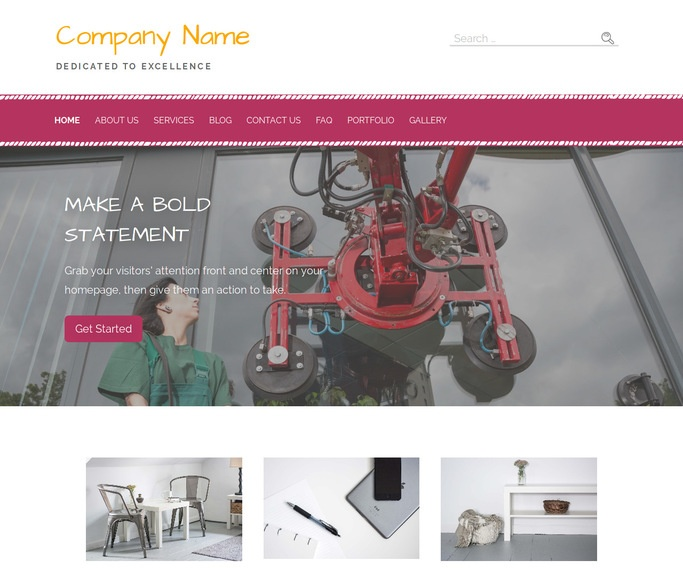 Scribbles Glass Repair and Replace WordPress Theme