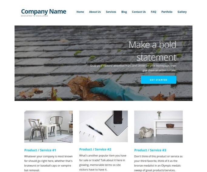 Ascension Gutter Cleaning Service WordPress Theme
