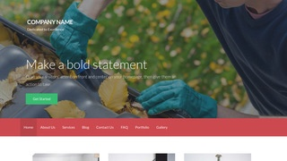 Activation Gutters and Downspouts Service WordPress Theme