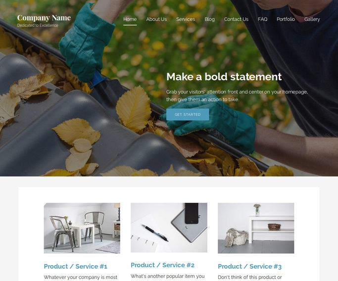 Lyrical Gutters and Downspouts Service WordPress Theme