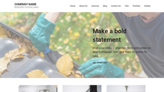 Mins Gutters and Downspouts Service WordPress Theme
