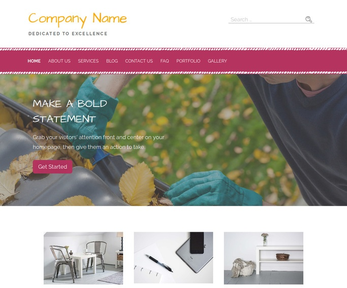 Scribbles Gutters and Downspouts Service WordPress Theme