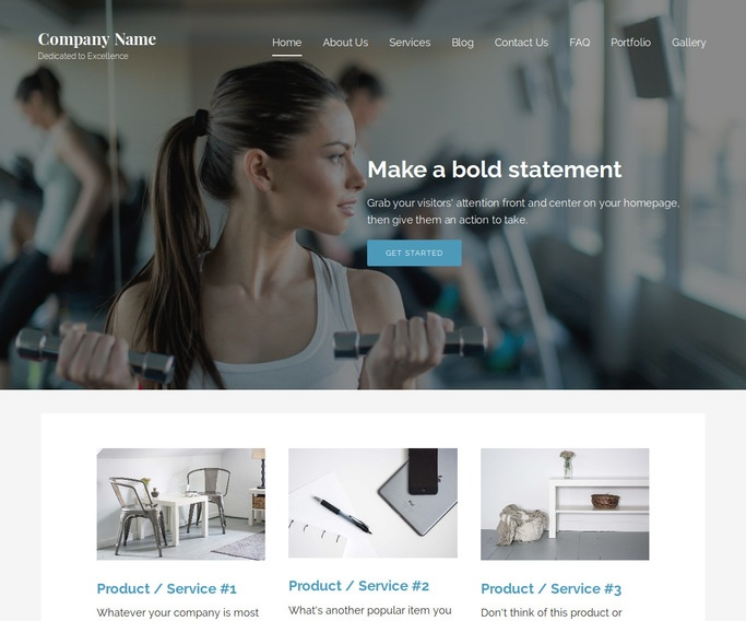 Lyrical Gym WordPress Theme