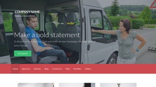 Activation Handicapped Transportation Service WordPress Theme