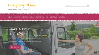 Scribbles Handicapped Transportation Service WordPress Theme