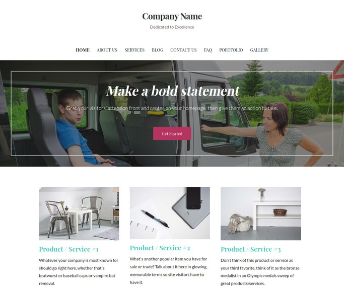 Uptown Style Handicapped Transportation Service WordPress Theme