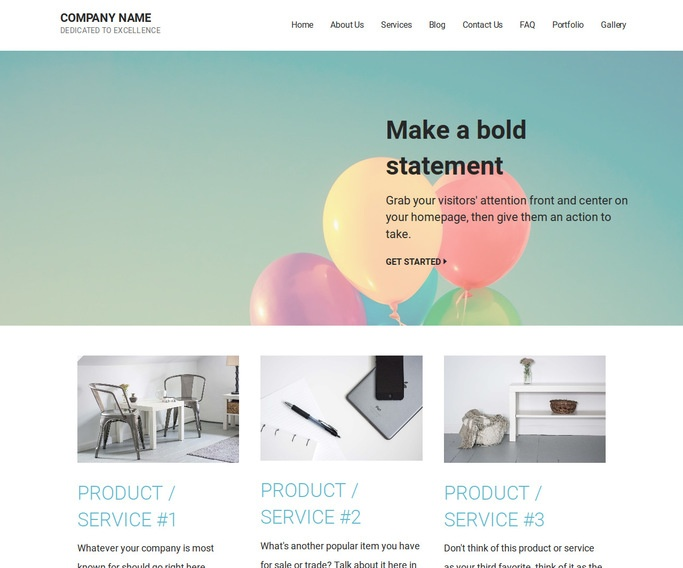 Mins Helium Gas WordPress Theme