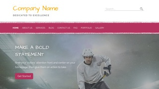 Scribbles Hockey WordPress Theme