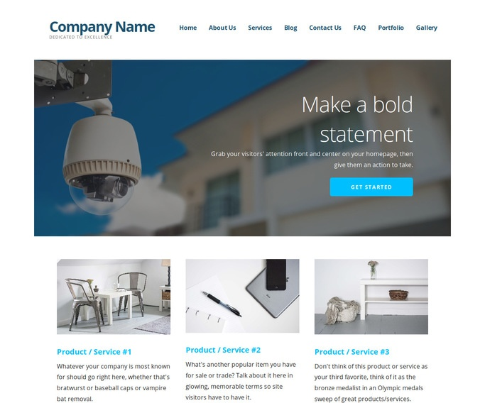 Ascension Home Security WordPress Theme
