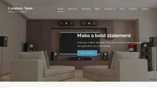 Lyrical Home Theatre Installation WordPress Theme