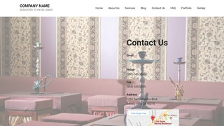 Mins Hookah Bar WordPress Theme