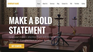 Stout Hookah Bar WordPress Theme